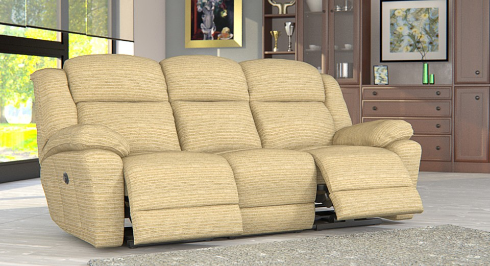 Rochester 3 seater electric double recliner sofa