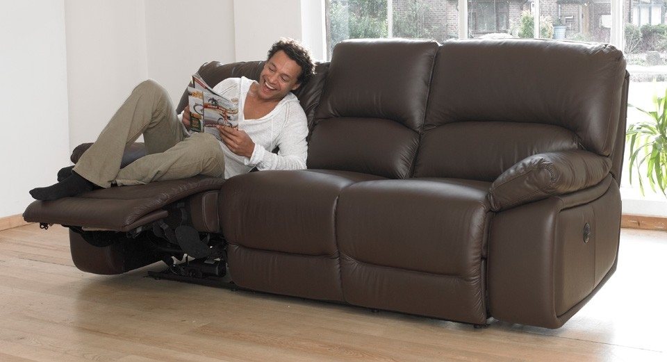 Lucca 3 seater electric double recliner sofa