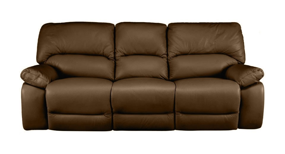 Lucca 3 seater manual double recliner sofa