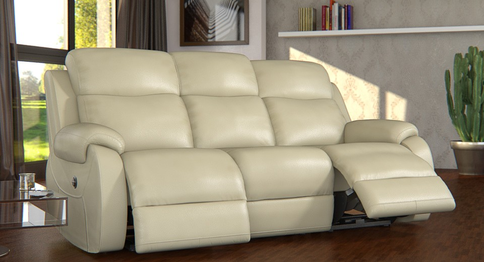 Avalon 3 seater electric double recliner sofa
