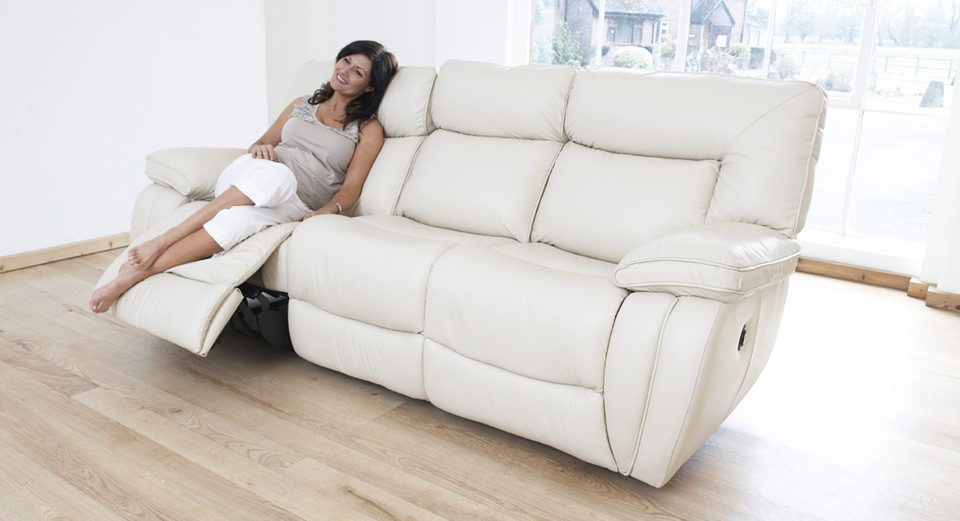 Modena 3 Seater Electric Double Recliner Sofa