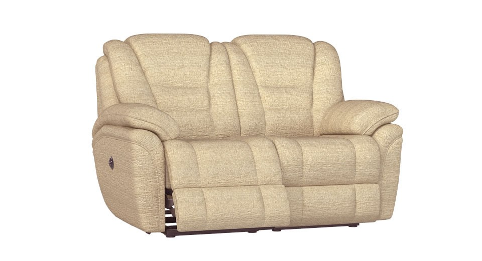 Perth 2 seater manual double recliner sofa
