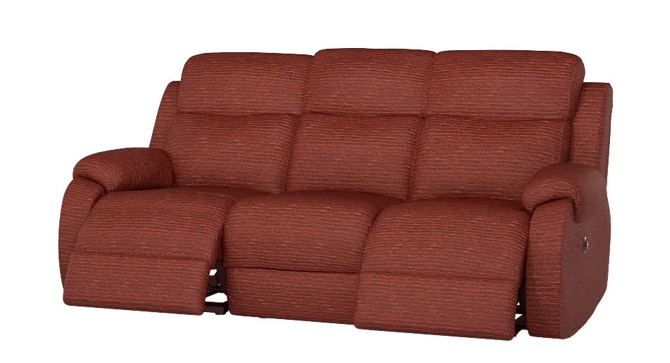 Chelsea 3 seater manual double recliner sofa