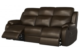 Avalon 3 seater manual double recliner sofa