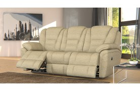 Perth 3 seater electric double recliner sofa