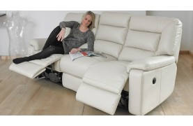 Imperia 3 seater electric double recliner sofa