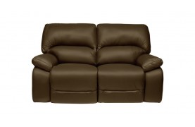 Lucca 2 seater manual double recliner sofa