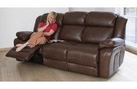Napoli 3 seater electric double recliner sofa