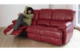Rimini 3 seater electric double recliner sofa