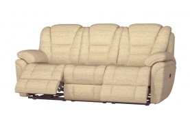 Perth 3 seater manual double recliner sofa
