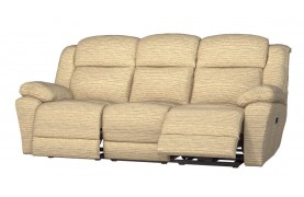 Rochester 3 seater manual double recliner sofa