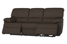 Florence 3 seater manual double recliner sofa