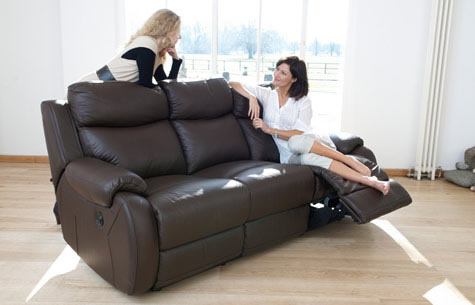 Leather Electric Recliner Sofas